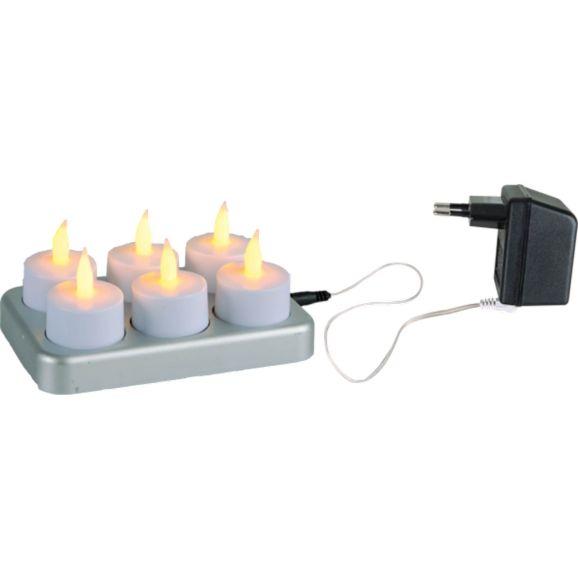 LED-ljus Star Trading Värmeljus vita LED Vit 109116