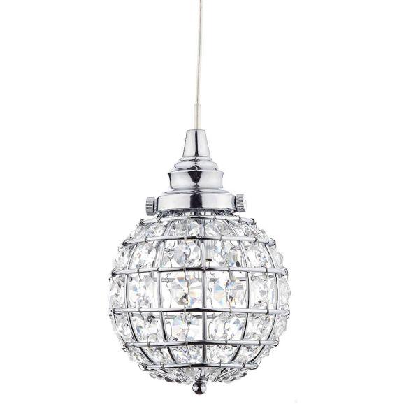 Fönsterlampa Oriva Kristallboll krom Krom 109993