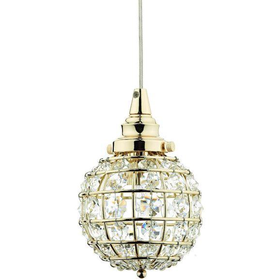 Fönsterlampa Oriva Kristallboll mässing Mässing 109994