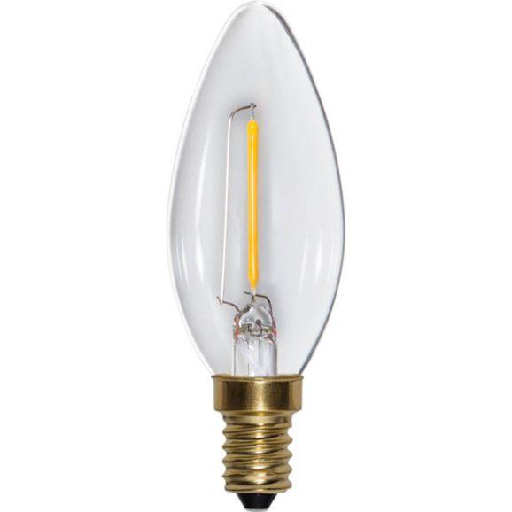 Ljuskälla LED E14 Star Trading 353-03 LED-lampa E14 B35 Transparent 110585