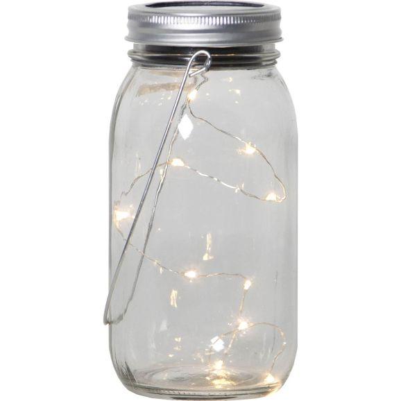 Solcellsbelysning Star Trading 479-16 Jamjar Transparent 110853