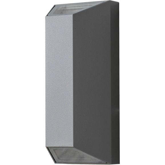 Vägglampa utomhus Airam Sala väggarmatur IP44 grå Grå 110983