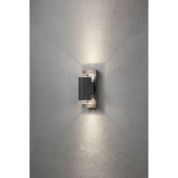Vägglampa utomhus Konstsmide Potenza vägglykta 7987-370 Grå 111012