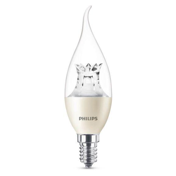 Ljuskälla LED E14 Philips LED KRON BA38 4W E14 VV WGD Vit 111197