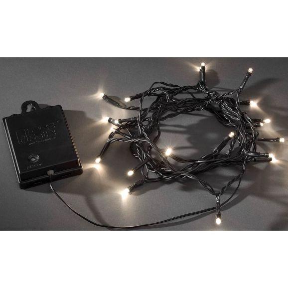 Julgransbelysning Konstsmide 40 varmvita 3724-100 LED Svart 111425