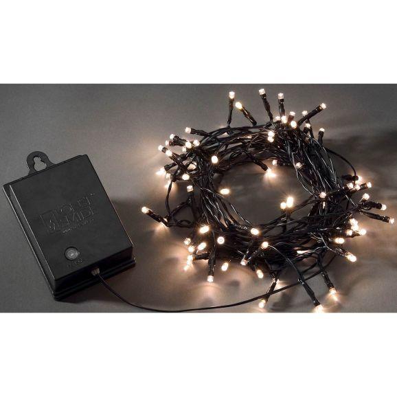 Julgransbelysning Konstsmide 80 varmvita3728-100 LED Svart 111426
