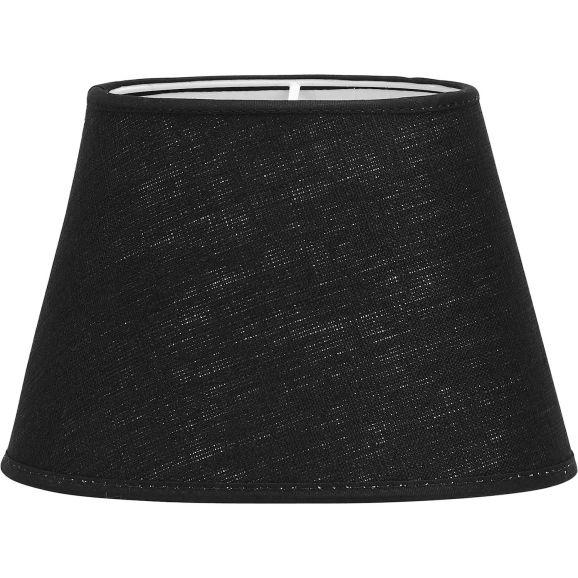 Lampskärm PR Home Oval Lin Svart 30cm Svart 112107