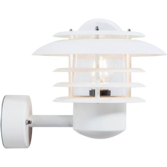 Vägglampa utomhus Belid Max vitstr. D240 Vit 112178