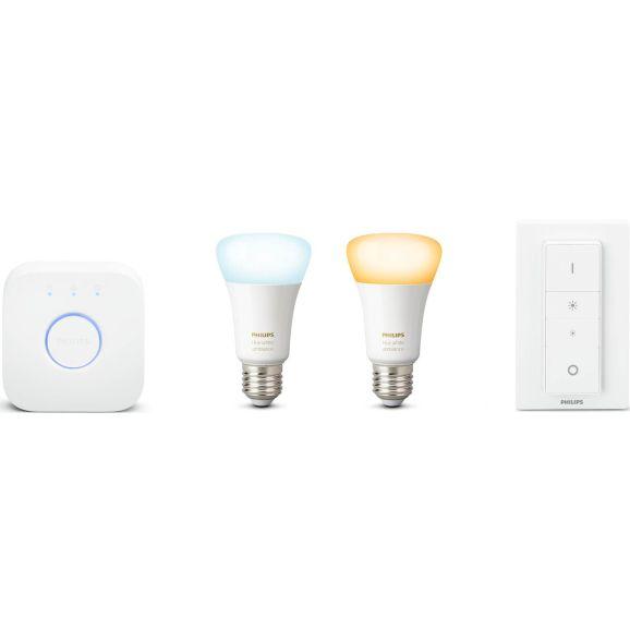 Smart belysning Philips Startkit Hue White Ambiance se Vit 112192
