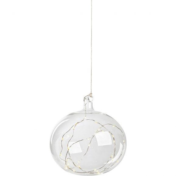 Dekorationsfigur Markslöjd Glasboll Lina 704471 18cm klar Transparent 112748