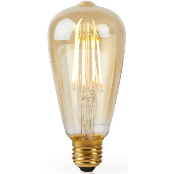 Smart ljuskälla Nedis WIFILF10GDST64 Guld 112765