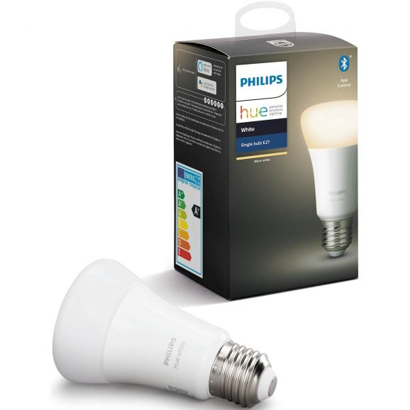 Smart ljuskälla Philips NORMAL HUE VIT E27 Vit 113874
