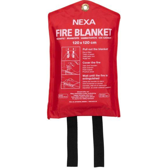 Brandsäkerhet Nexa Brandfilt FB 120x120 Röd 114467