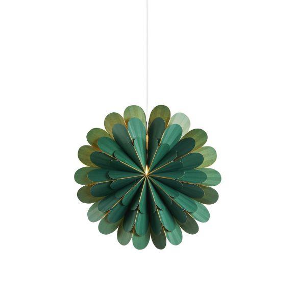 Julstjärna Markslöjd Marigold 45cm Grön Vit 114674