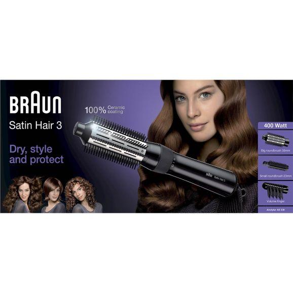 Värmeborste Braun AS330 Svart 300388