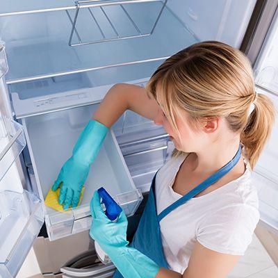 dame vasker i kjøleskapet